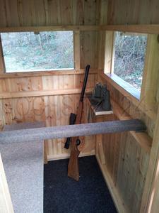 Geschlossene kanzeln hochsitz24 jagdeinrichtungen - Schiebefenster selber bauen ...